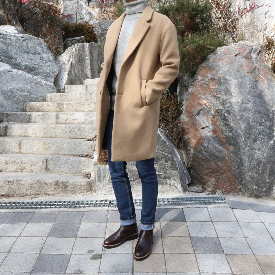 PO sys*em homme over coat /시스템 오버코트