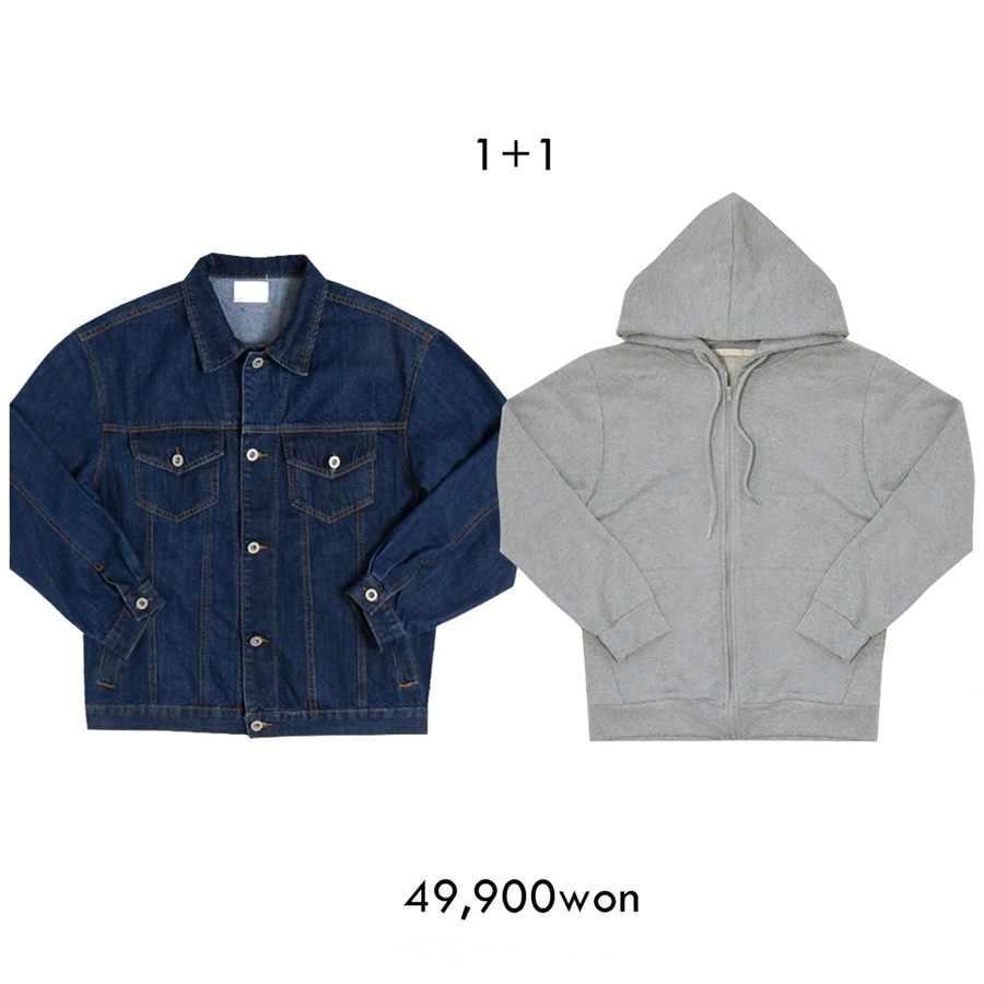 1+1 Denim JK + Hood Jip-up