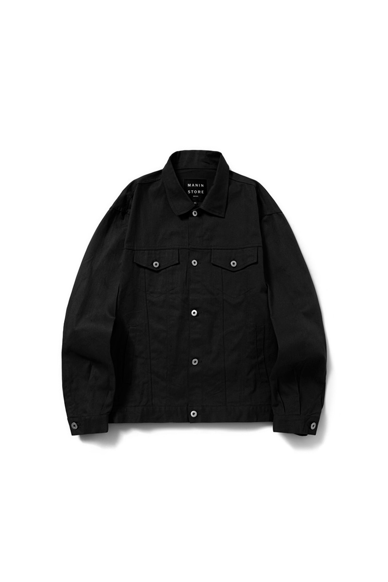 MANIN Premium Basic Over Trucker Jacket_Black